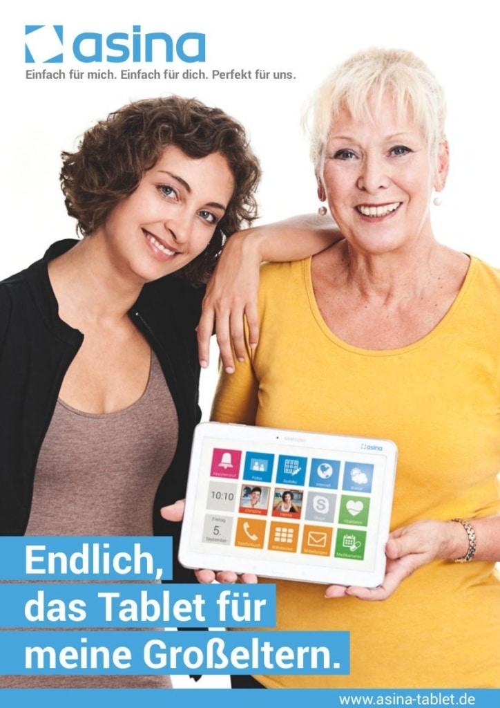 asina - tablet für senioren - 2
